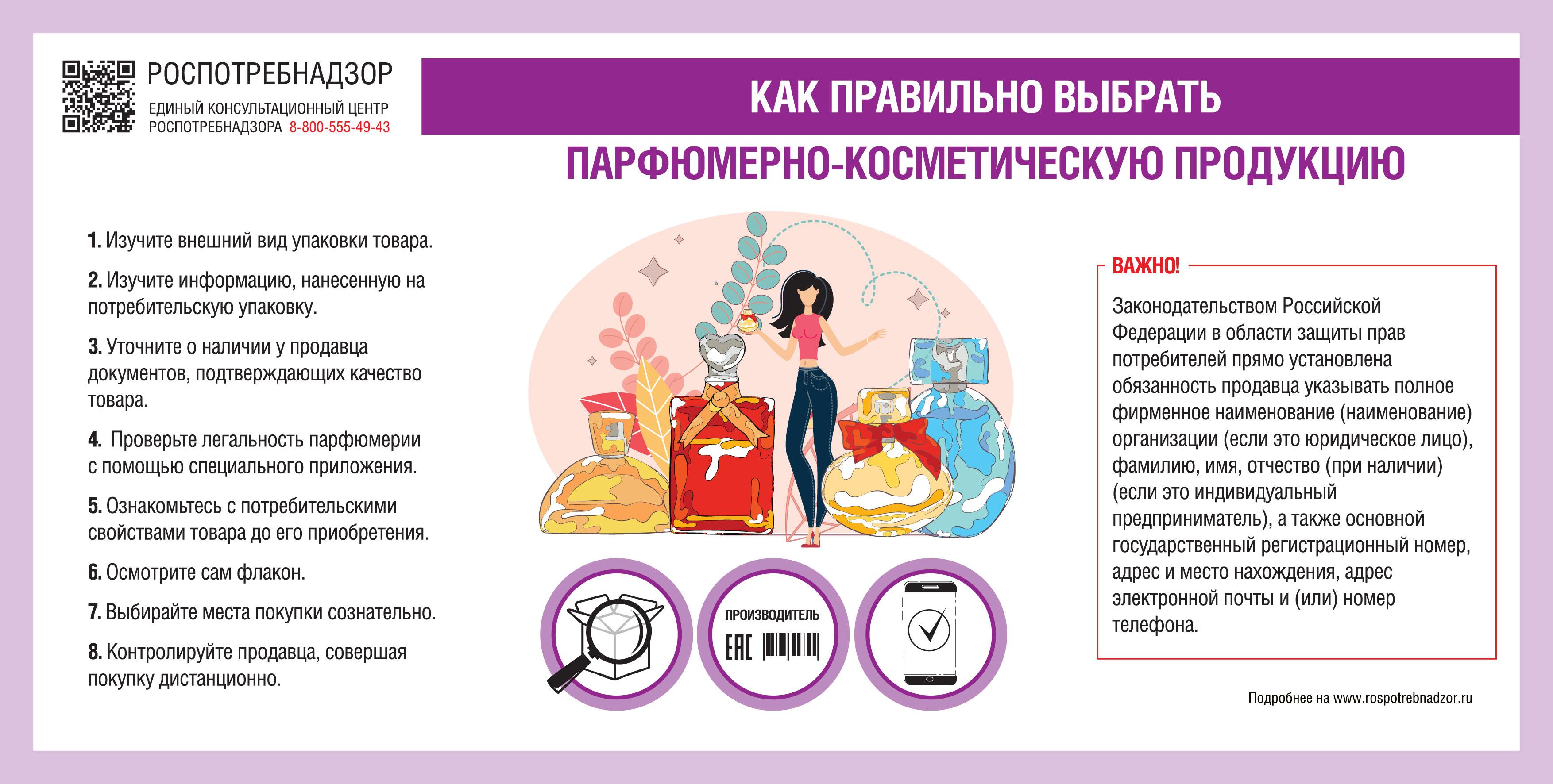 О рекомендациях как правильно выбрать парфюмерно-косметическую продукцию